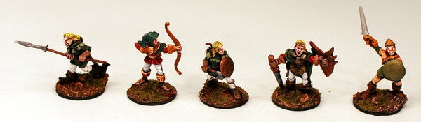 CE23 Wood Elf Infantry-Pro-Painted-Set of 5 Miniatures