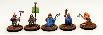 DH11 Dwarf Command-5 Pro-Painted Miniatures - Ready to Ship