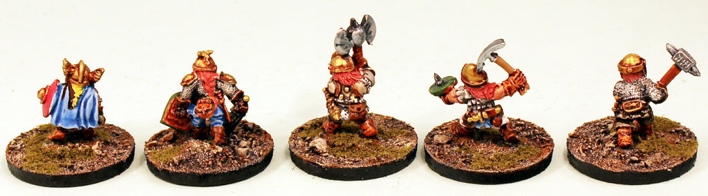 DH1 Young Dwarfs-Pro-Painted Set of 5 Miniatures-Ready to Ship