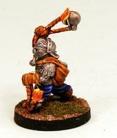 DH6-02: Dwarf in Armour whirling Fire Globes Pro-Painted-25mm Resin Base-Ready to ship