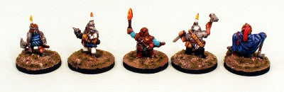 28mm DH7 Dwarf Cavern Fighters-Pro-Painted 5 Miniatures