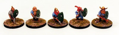 DH8 Dwarf Shield Wall Pro-Painted-5 Miniatures Set (B)-Ready to Ship