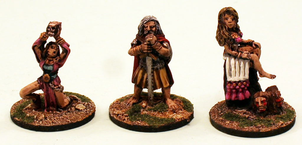 ER23 The Celtic Heroes: 3 Pro-Painted Mythic Miniatures-Ready to Ship