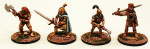 ER24 The Sun Warriors: 4 Pro-Painted Mythic Miniatures-Ready to Ship