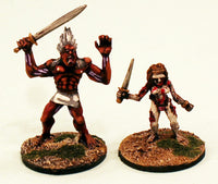 ER26 The Celtic Half Dead Champions: 2 Pro-Painted Mythic Miniatures-Ready to Ship