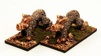 ER29 The Venom Pigs: 2 Pro-Painted Mythic Miniatures-Ready to Ship