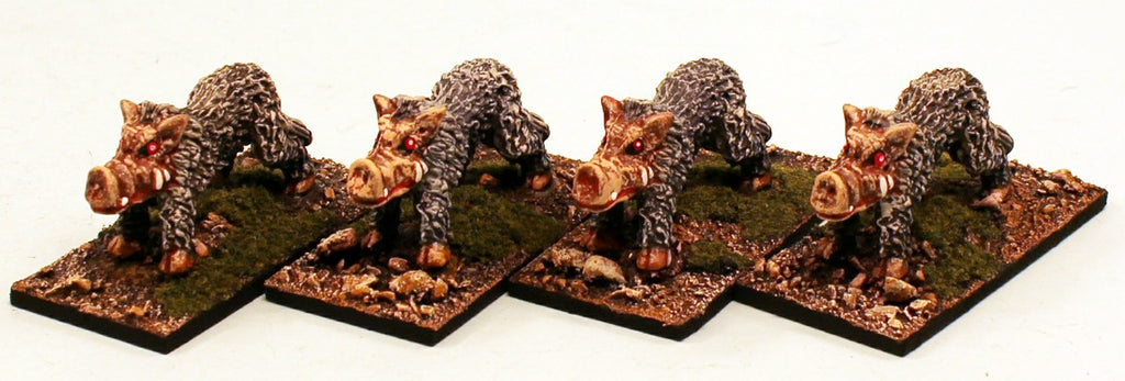 ER29 The Venom Pigs: 4 Pro-Painted Mythic Miniatures-Ready to Ship