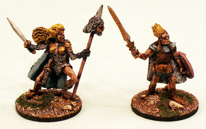 ER31 Cuchulainn and Eithne: 2 Pro-Painted Mythic Miniatures-Ready to Ship