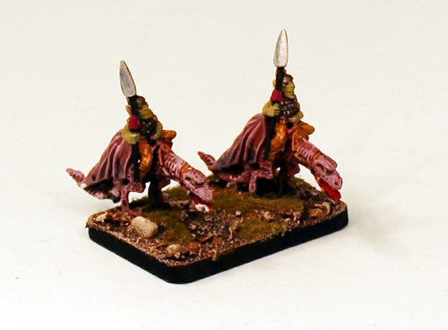 F65 Young Dragons with Orc Riders-Pro-Painted15mm Scale Cavalry