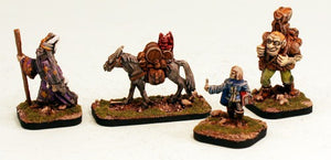 FL11 Wizards Party-Pro-Painted 4 Miniatures-Ready to Ship
