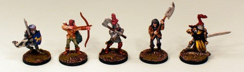 FL12 Men at Arms-Pro-Painted set of 5 Miniatures (Set 1)