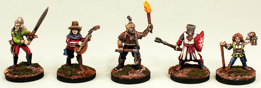 FL13 28mm Fantasy Adventurers I-Pro-Painted 5 Miniatures Set 2-Ready to use