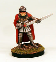 FL14-05: Fighter in plate armour with greatsword 25mm Base-Ready to Ship