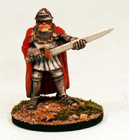 FL14-05: Fighter in plate armour with greatsword 30mm Base-Ready to Ship