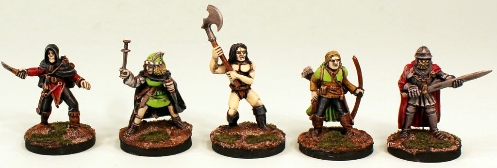 FL14 28mm Fantasy Adventurers II-Pro-Painted 5 Miniatures-Ready to use