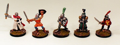 FL15 Men at Arms II-Pro-Painted set of 5 Miniatures (Set 2)