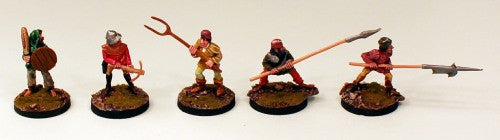 FL16 Peasants-Pro-Painted set of 5 Miniatures (Set 1)