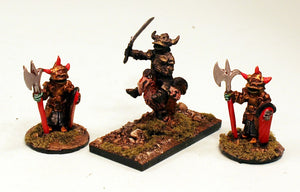 Goblin Knights 28mm Fantasy Pro-Painted 3 Miniatures Set: Ready to Ship