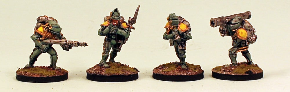 IB21 Retained Varlet Support-Pro-Painted Set of 4 Space Opera Miniatures & Ready to Ship Set 2 Resin Bases