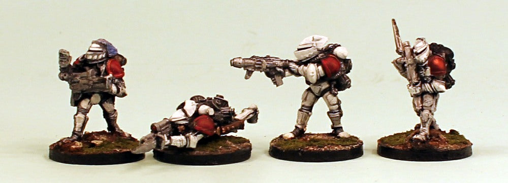 IB23 Retained Veterans-Pro-Painted Set of 4 Space Opera Miniatures & Ready to Ship
