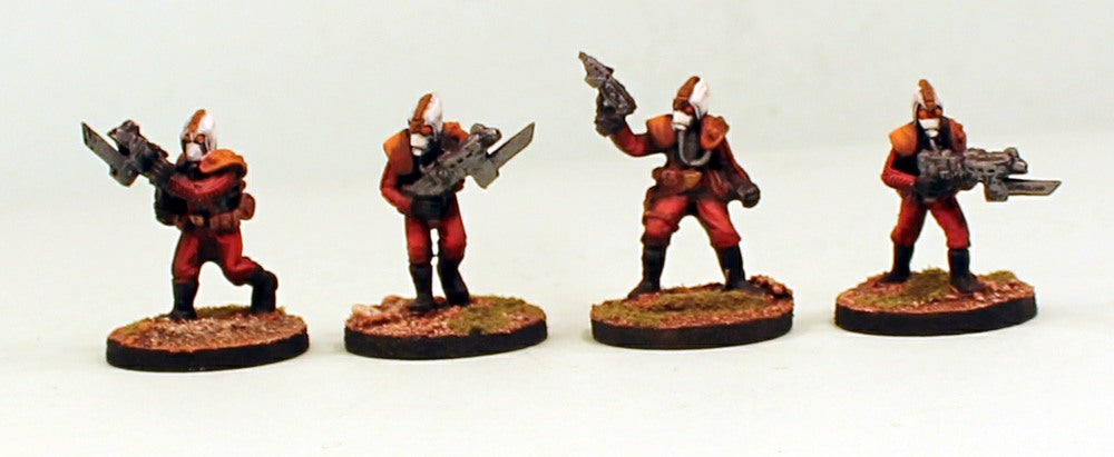 IB43 Styx Legionaries-Pro-Painted Set on Resin Bases of 4 Space Opera Miniatures & Ready to Ship
