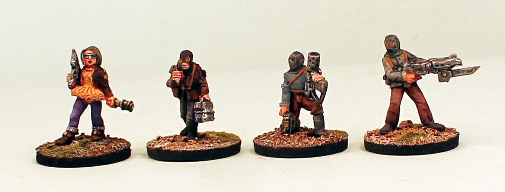 IB45 Betrayer Saboteurs-Pro-Painted Set 1 on Resin Bases of 4 28mm Space Opera Miniatures: Ready to Ship