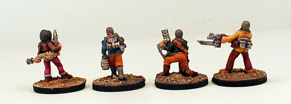 IB45 Betrayer Saboteurs-Pro-Painted Set 2 on Resin Bases of 4 28mm Space Opera Miniatures: Ready to Ship