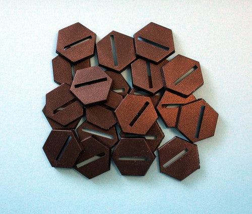 LBA7 25mm Hexagon Black Plastic Bases