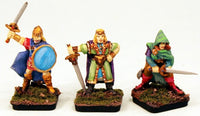 LW01 28mm Fantasy Lone Wolf Human Adventurers I-Pro-Painted 3 Miniatures-Ready to use