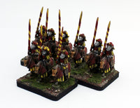 MRC12 French Gendarme 16thC Early: A Set of 3 Pro-Painted 15mm Cavalry Elements in Yellow/Red Uniform: Ready to Ship