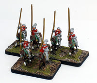 MRC14 Spanish Gendarme & MRC15 Spanish Genitor 16thC Early: A Set of 3 Pro-Painted 15mm Cavalry Elements: Ready to Ship