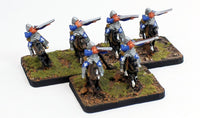 MRC16 Spanish Escopetero 16thC Early: A Set of 3 Pro-Painted 15mm Cavalry Gunner Elements: Ready to Ship
