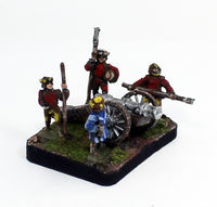 MRX1 Early 16th Century Gun & MRX7 Early 16th Century Gun Crew: An Element of 5 Pro-Painted 15mm Pieces: Ready to Ship