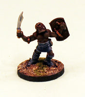 OH08-01: Orc appealing to the sky with Sword & Shield-28mm Pro-Painted Fantasy-30mm Resin Base (1) Ready to Ship