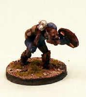 OH08-02: Orc thug with Shield and Mace-28mm Pro-Painted Fantasy-30mm Resin Base (1) Ready to Ship