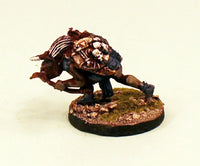 OH10-03: Orc running bent over with Bow-28mm Pro-Painted Fantasy-30mm Resin Base (1) Ready to Ship