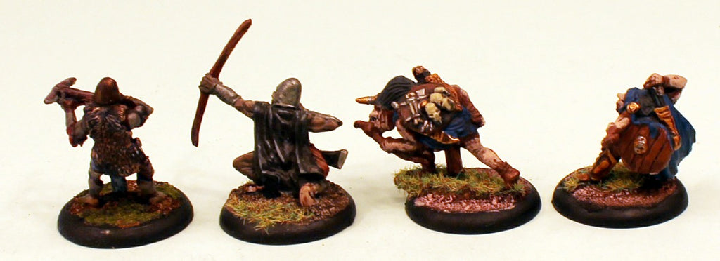 OH10 Orc Archers 28mm Pro-Painted Fantasy-4 Miniatures Set-30mm Plastic Bases-Ready to Ship