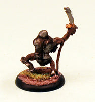 OH11-03: Orc with Sword and Whip-28mm Pro-Painted Fantasy-30mm Plastic Base (1) Ready to Ship