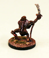 OH11-03: Orc with Sword and Whip-28mm Pro-Painted Fantasy-30mm Resin Base (1) Ready to Ship