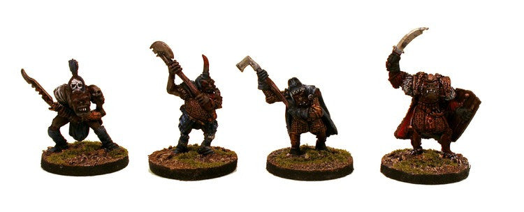 28mm Fantasy Orc Elites (OH12) 4 Miniatures Set