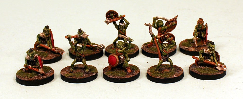 OH1 Nilbogs Backwoods Goblin Band-Pro-Painted-10 Miniatures-Ready to Ship