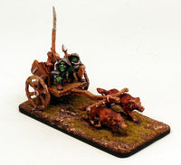 28mm OH28 Goblin Chariot-2 Goblin Crew-2 Wolves-Pro-Painted Set