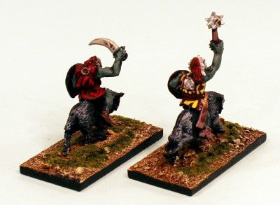 28mm OH5 Goblin Wolf Cavalry I-Pro-Painted Set-2 Miniatures