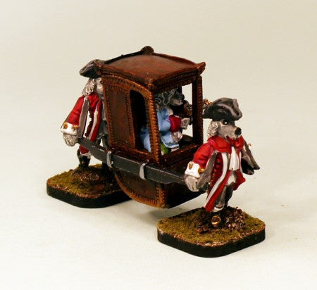 Pro-Painted 59522 Sedan Chair with Dogmen-ready to use