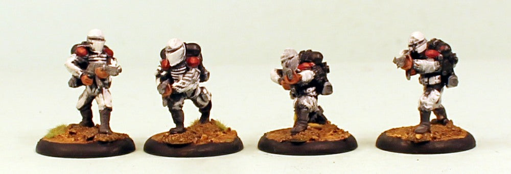 IB13 Muster Infantry Squad-Pro-Painted Set of 4 Space Opera Miniatures Set 2 Plastic Bases: Ready to Ship
