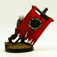 VNT15-04: Skeleton Standard Bearer-Pole & Banner Pro-Painted Undead-Ready to Ship