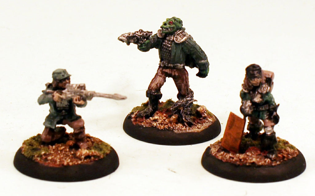 Asgard Sci-Fi 28mm Scale Pro-Painted Set of Three-Ready to Ship