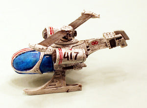 V007 Scythe Jetcopter: Pro-Painted 15mm Scale Sci-Fi Laserburn Vehicle-Ready to ship