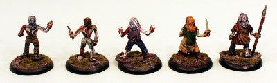 28mm Zombies II (VNT11) Pro-Painted-5 Undead Miniatures