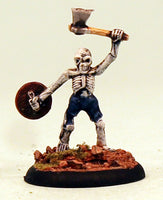 VNT13-01: Skeleton with Axe and Shield. Pro-Painted Undead-Ready to Ship